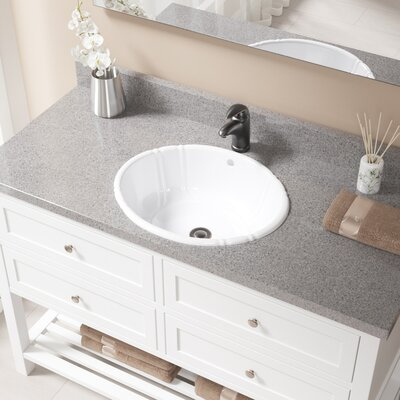Vitreous China Oval Drop-In Bathroom Sink with Overflow Sink Finish: White, Drain Finish: Antique Rubbed Bronze
