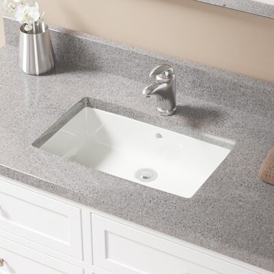 Rectangular Undermount Bathroom Sink With Overflow Sink Finish: Bisque, Drain Finish: Chrome