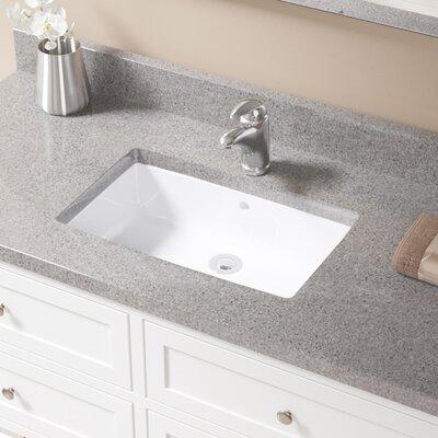 Rectangular Undermount Bathroom Sink With Overflow Sink Finish: White, Drain Finish: Chrome