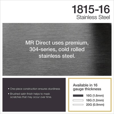 Stainless Steel 18 x 15 Undermount Bar Sink With Additional Accessories