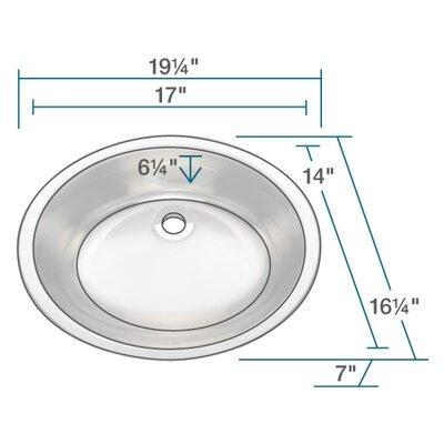 Metal Oval Vessel Bathroom Sink