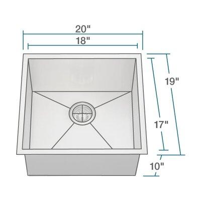 Stainless Steel 20 x 19 Undermount Kitchen Sink
