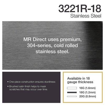 Stainless Steel 32 x 21 Double Basin Undermount Kitchen Sink