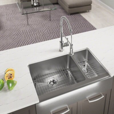 Stainless Steel 33 x 20 Farmhouse/Apron Undermount Kitchen Sink