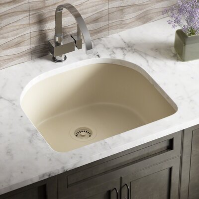 Granite Composite 25 x 22 Undermount Kitchen Sink with Strainers Finish: Beige