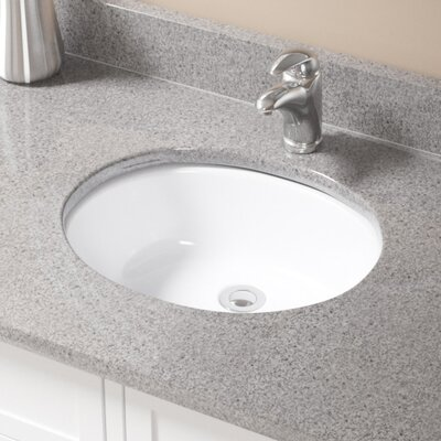 Glass Oval Undermount Bathroom Sink with Overflow Sink Finish: White, Drain Finish: Chrome