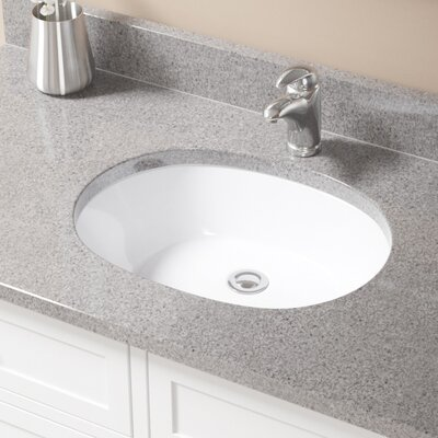 Vitreous China Oval Undermount Bathroom Sink with Overflow Sink Finish: White, Drain Finish: Chrome