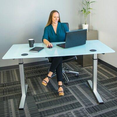 Oanh Adjustable Height Motorized Standing Desk Finish: Gloss White