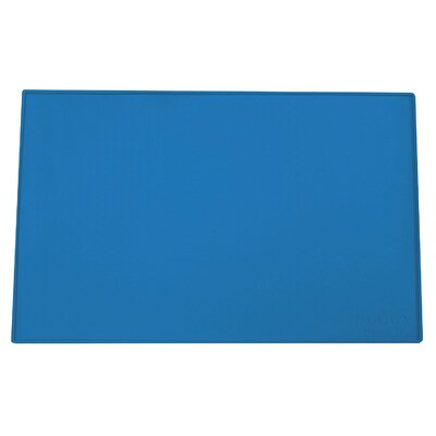 Felipe Dog, Cat Feeding Mat Size: Large (23.5 W x 16 D x 0.25 H), Color: Blue