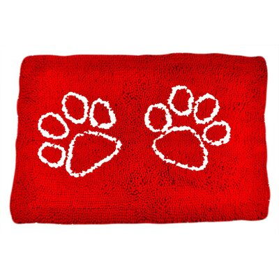 Rickey Microfiber Doormat Mat Size: 5 x 3, Color: Red