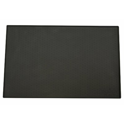 Felipe Dog, Cat Feeding Mat Size: Large (23.5 W x 16 D x 0.25 H), Color: Black