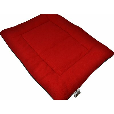 Comfort Pet Dog Crate Mat Size: Large - 22 L x 35 W, Color: Maroon