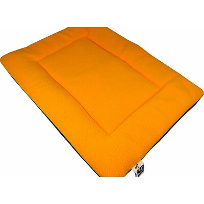 Comfort Pet Dog Crate Mat Size: Large - 22 L x 35 W, Color: Orange