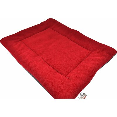 Comfort Pet Dog Crate Mat Size: Small - 18 L x 24 W, Color: Red