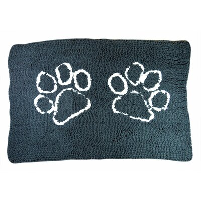 Rickey Microfiber Doormat Mat Size: 27 x 18, Color: Charcoal