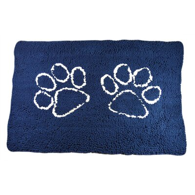 Rickey Microfiber Doormat Mat Size: 27 x 18, Color: Navy Blue