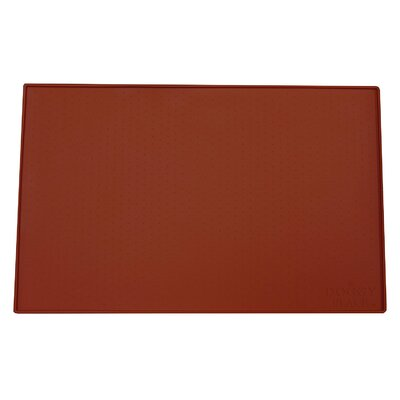 Felipe Dog, Cat Feeding Mat Size: Large (23.5 W x 16 D x 0.25 H), Color: Red