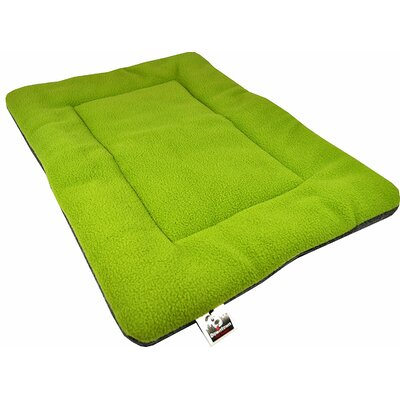 Comfort Pet Dog Crate Mat Size: Small - 18 L x 24 W, Color: Green