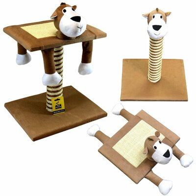 Deluxe Interactive Cat Scratch Post