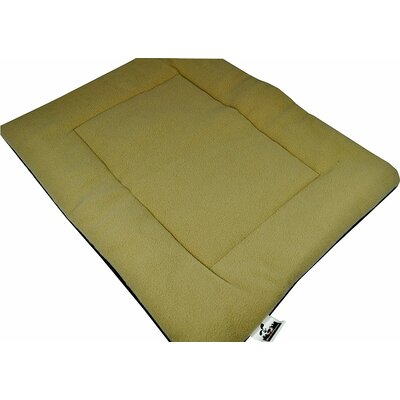Comfort Pet Dog Crate Mat Size: Small - 18 L x 24 W, Color: Tan