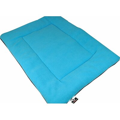 Comfort Pet Dog Crate Mat Size: Large - 22 L x 35 W, Color: Blue