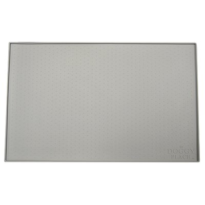 Felipe Dog, Cat Feeding Mat Size: Large (23.5 W x 16 D x 0.25 H), Color: Gray