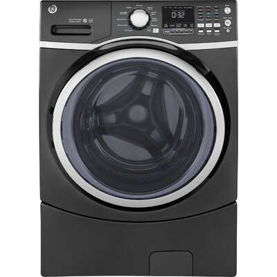 4.5 cu. ft. Energy Star Frontload Washer with Steam Color: Gray GFW450SPMDG