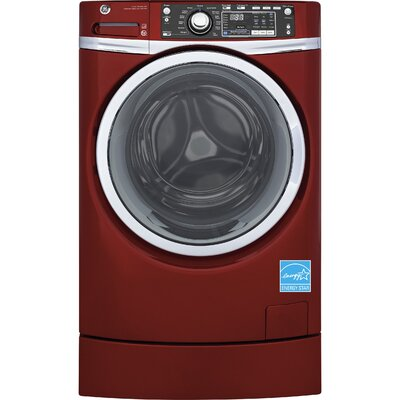 GE - RightHeight 8.3 Cu. Ft. 13-Cycle Gas Dryer with Steam - Ruby Red GFD49GRPKRR