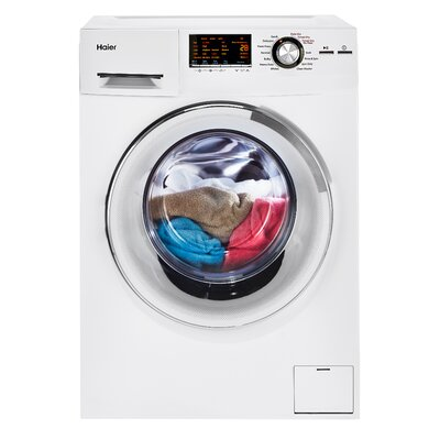 2.0 cu. ft. Front Load Washer and Electric Dryer Finish: White HLC1700AXW
