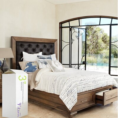3.5 Memory Foam Mattress Topper Bed Size: Twin