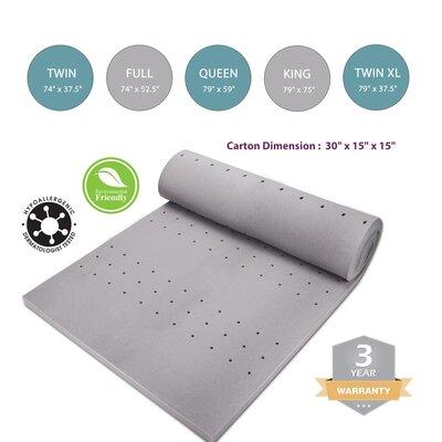 2 Memory Foam Mattress Topper Bed Size: Full