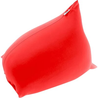 Pyramid Uniquely Bean Bag Chair Upholstery: Red