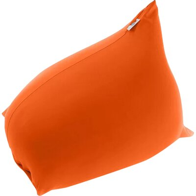 Pyramid Uniquely Bean Bag Chair Upholstery: Orange