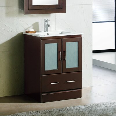 Rethman Contemporary 24 Single Bathroom Vanity Set