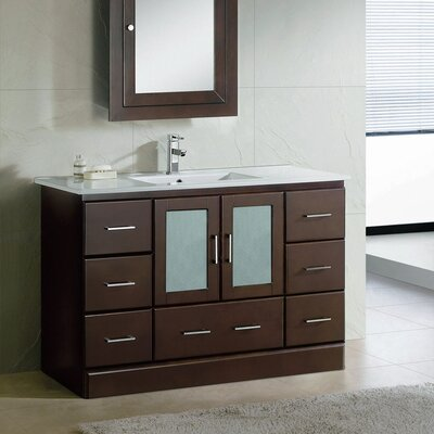 Rethman Contemporary 48 Single Bathroom Vanity Set