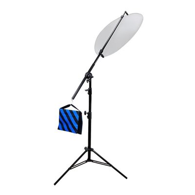 3 Piece Photo Studio Lighting Reflector Arm Stand Reflector Stand Holder Boom Arm Lense or Filter