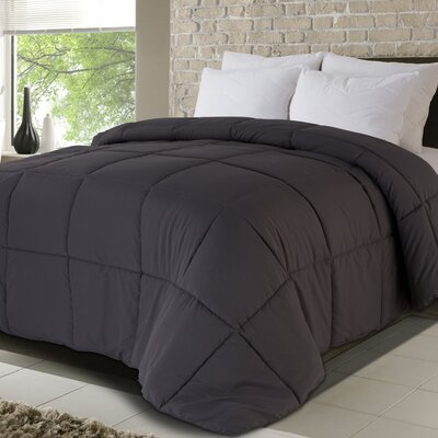 All Season Down Alternative Comforter Size: King, Color: Gray