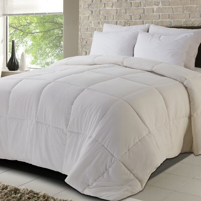 All Season Down Alternative Comforter Size: Twin, Color: White