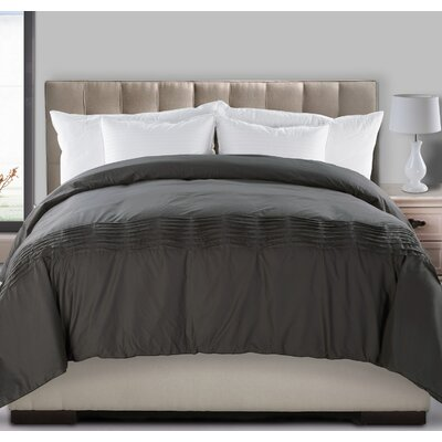Ultra Pintuck Fill Power Down Alternative Comforter Size: King, Color: Ivory