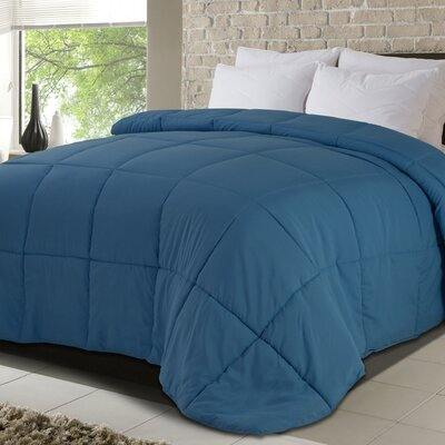All Season Down Alternative Comforter Size: Twin, Color: Blue