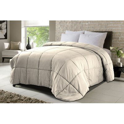 All Season Down Sewn Corner Tabs Comforter Bed Size: King