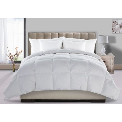Round All Season Down Comforter Bed Size: King