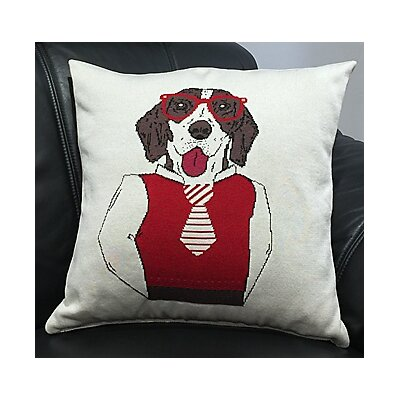 Shiena Dog Throw Pillow