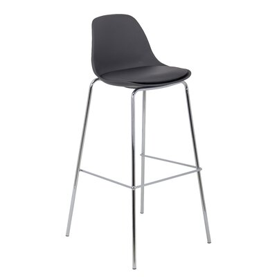 Anup 30 Bar Stool (Set of 4) Color: Black