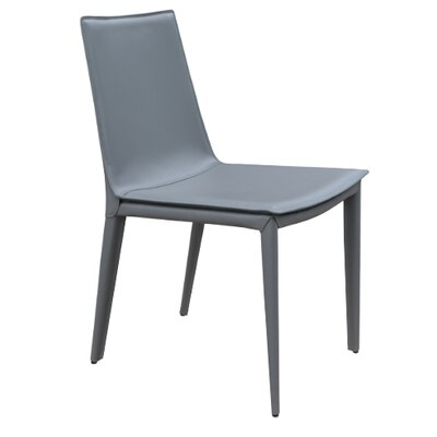 Thane Upholstered Dining Chair Color: Gray