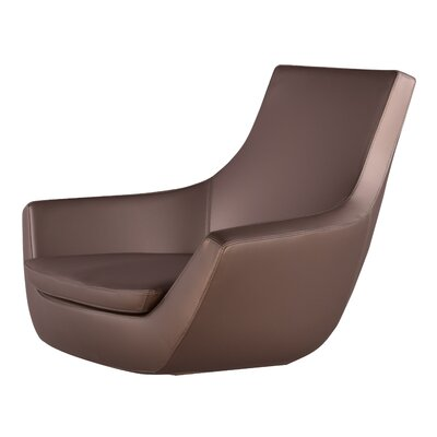 Creason Swivel Leather Lounge Chair Seat Color: Bronz