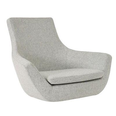Crase Leather Lounge Chair Seat Color: Silver