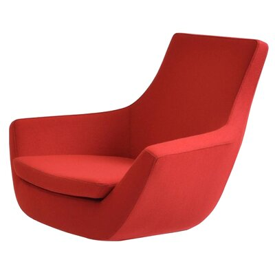 Creel Swivel Lounge Chair Seat Color: Camira Red