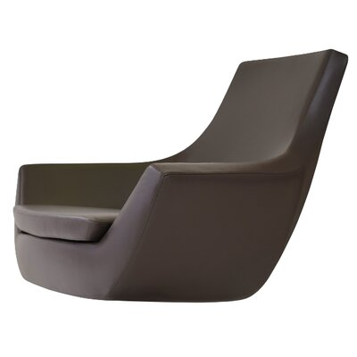 Creager Leather Lounge Chair Seat Color: Brown