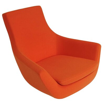 Creel Swivel Lounge Chair Seat Color: Camira Orange
